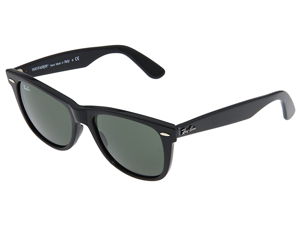 Ray-Ban RB2140 Original Wayfarer 54mm (Black/G-15xlt Lens) Sport Sunglasses