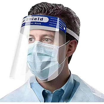 frei von Kratzer 2 Visiere 1x Halterung Schutzschild Gesicht Blumax Visier Gesichtsschutz verstellbar klare Sicht Klappvisier aus robustem Kunststoff Face Shield