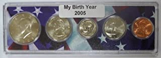 2005-5 Coin Birth Year Set in American Flag Holder Uncirculated