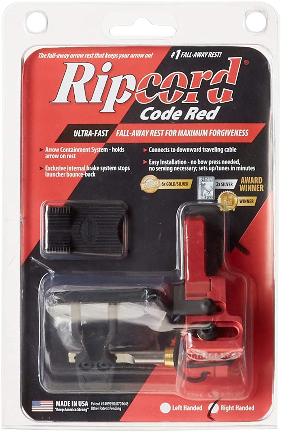 Ripcord UnisexAdult Ripcord Fall Away Rest Red RH RCRRR, Red