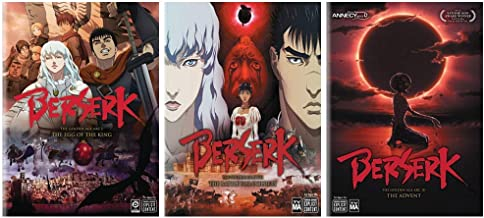 Berserk: The Golden Age Arc - Complete Anime Movie Series 1-3 DVD Collection (Egg of the King / Battle For Doldrey / Advent)