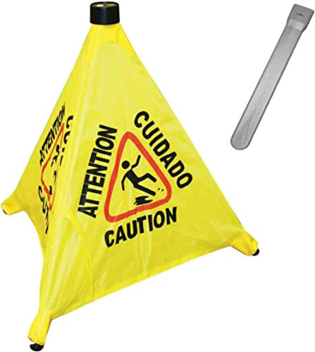 Excellante 19-1/2-Inch Pop-Up Safety Cone with Storage Tube