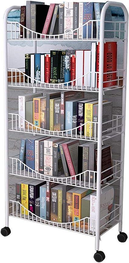 QIANGDA Librerías Estanterias Biblioteca Marco De Acero ...