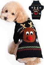BOBIBI Dog Sweaters Christmas Cartoon Reindeer Pet Cat Winter Knitwear Warm Clothes