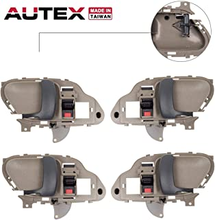 AUTEX 4pcs Beige Interior Door Handles Front Rear Left Right Compatible with Chevy Tahoe,GMC Yukon,Chevrolet,GMC Suburban C/K 1500 2500 3500 Pickup Truck 1995 1996 1997 1998 1999 2000 77570 77571