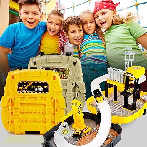 HSP Himoto Baustellen Spielzeug-Set im wunderschönen Koffer Design, leicht zu transportieren für Ihre Kinder, Bagger, Baustelle, Kran, Neu OVP