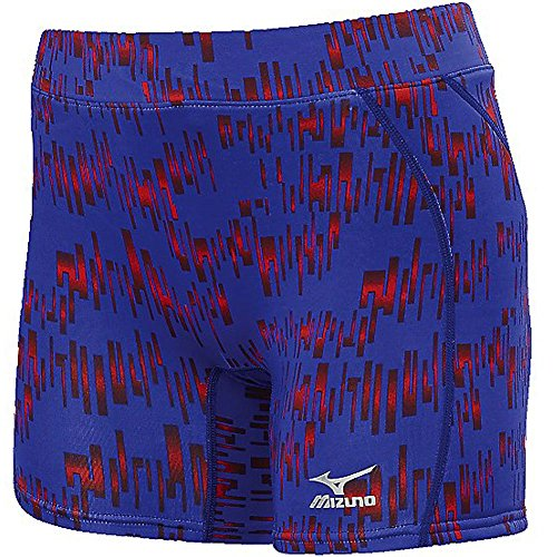 Mizuno Damen Fast Pitch Softball Nighthawk Sliding Shorts, Violett/Rot, Größe XL