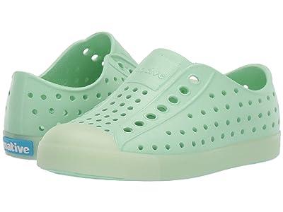 Native Kids Shoes Jefferson (Toddler/Little Kid) (Celtuse Green/Glow) Girls Shoes