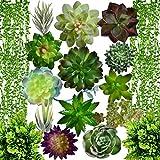 Artificial Succulent Plants Fake...