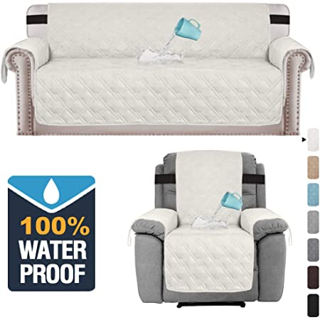 100/% Waterproof Recliner Cover and Sofa Cover Bundle