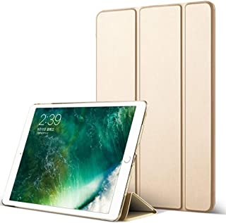 DuraSafe Case for iPad PRO 12.9 Inch 2 Gen - 2017 [ A1670 A1671 ] Tri Fold Smart Cover with Translucent Back, Auto Sleep/Wake - Gold