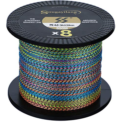 Sougayilang 8 Strands Braided Fishing Line Abrasion Resistant Braided...