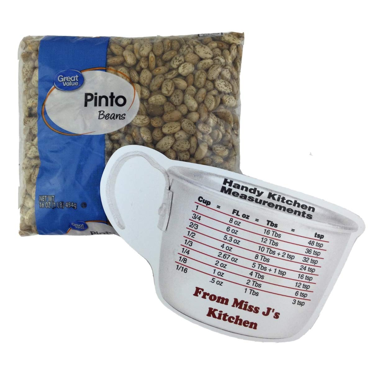 Great Value Dry Pinto Beans 1 New mail order lb with Max 63% OFF Miss Bag J's Ki Handy