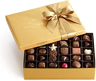 Godiva Chocolatier Assorted Chocolate Classic Gold Ballotin Gift Box, Assorted Chocolate, Premium Chocolate, Great as a Gift, 70 Count
