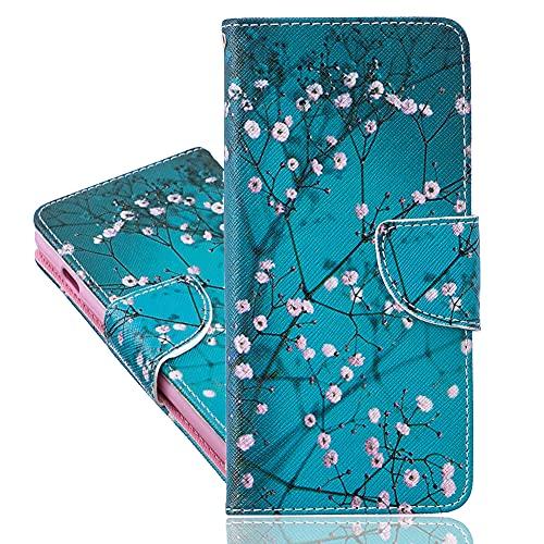 IMEIKONST Funda para Samsung Galaxy A32 4G, piel sintética de alta calidad, duradera, ligera, con tapa, cierre magnético, compatible con Samsung Galaxy A32 4G, color azul