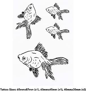 4 x 'Goldfish' Temporary Tattoos (TO00033745)