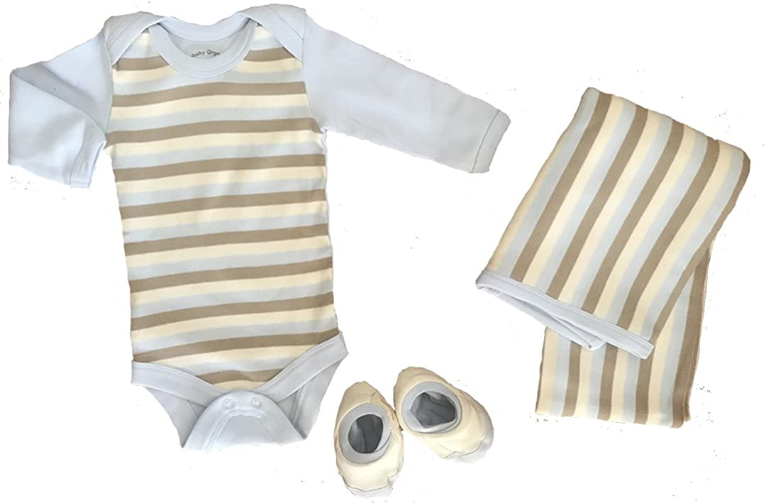 Organic Cotton quality assurance Long Sleeve Onesie Free Booties Blank and Deluxe Ranking TOP13