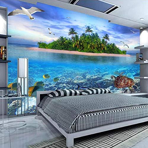 ZJfong 3d fotobehang slaapkamer wanden zeeland eiland waterdicht TV achtergrond wanddecoratie schilderij muurschildering 220 x 140 cm.