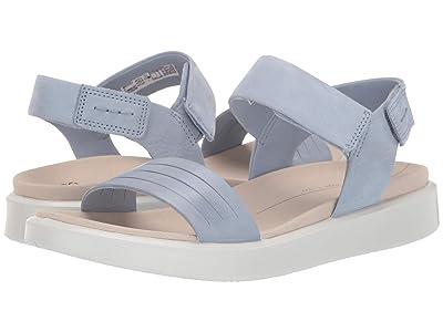 ECCO Flowt Strap Sandal (Dusty Blue/Dusty Blue Cow Leather/Cow Nubuck) Women