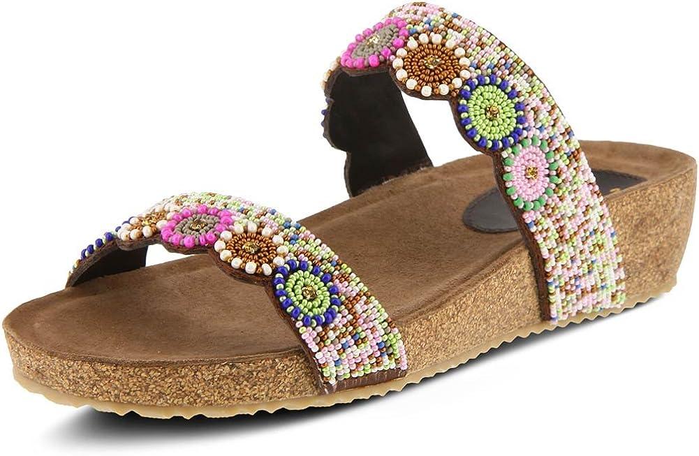 Azura Women's Style Bahama Leather Slide Sandal