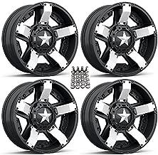 XS811 Rockstar II ATV Wheels/Rims White/Black 20