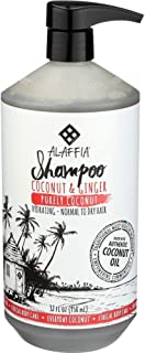 Alaffia - Everyday Coconut Shampoo, Normal to Dry Hair, Helps Gently Clean Scalp and Hair of Impurities with Ginger and Coconut Oil, Fair Trade, Coconut and Ginger, 32 Ounces