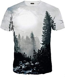 jeansian Unisex Men Women Casual 3D Printed Short Sleeves Couple T-Shirt Tee LYT091