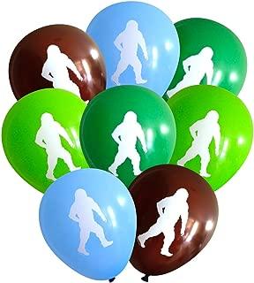 Nerdy Words Sasquatch/Abominable Snowman Latex Balloons (16 pcs) (Green, Lime, Brown, Light Blue)