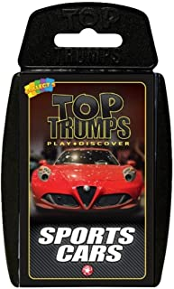 Holland Plastics Original Brand TOP Trumps - Sports Cars! Perfect for Indoors, Travelling, Camping and Holidays