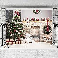 ケイト・クリスマス写真背景幕ホワイト雪木製Plank写真背景カスタマイズされたフォトスタジオ背景