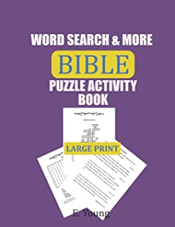 Word Search & More Bible Puzzle Activity Book: 79 Large Print Puzzles