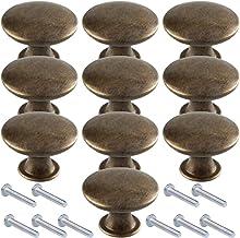 LINVINC 10St Retro Metalen Lade Handgrepen En Knoppen, Vintage Kast Handvat Antieke Meubelen Hardware Accessoires,Geel