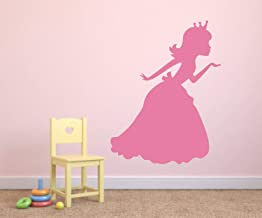 Promini Princess Wall Decal Princess Blowing Kiss Vinyl Wall Decal Princess Silhouette Vinyl Wall Decal Princess Kiss Vinyl Wall Decal Wall Art Wall Sticker 24