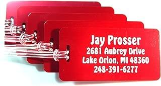 Luggage-Tag Custom Engraved Jumbo Aluminum (5)