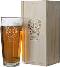 PorcelainSite Geschenkideen GmbH Bicchiere da Birra con Scritta Bester Papa der Welt 0,5 l