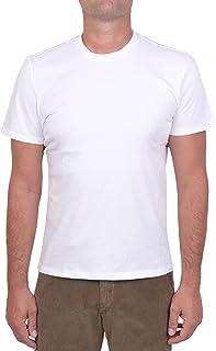 MAJESTIC FILATURES MOD. M537-HTS022 - Camiseta de cuello redondo de algodón Silk Touch para hombre, color blanco