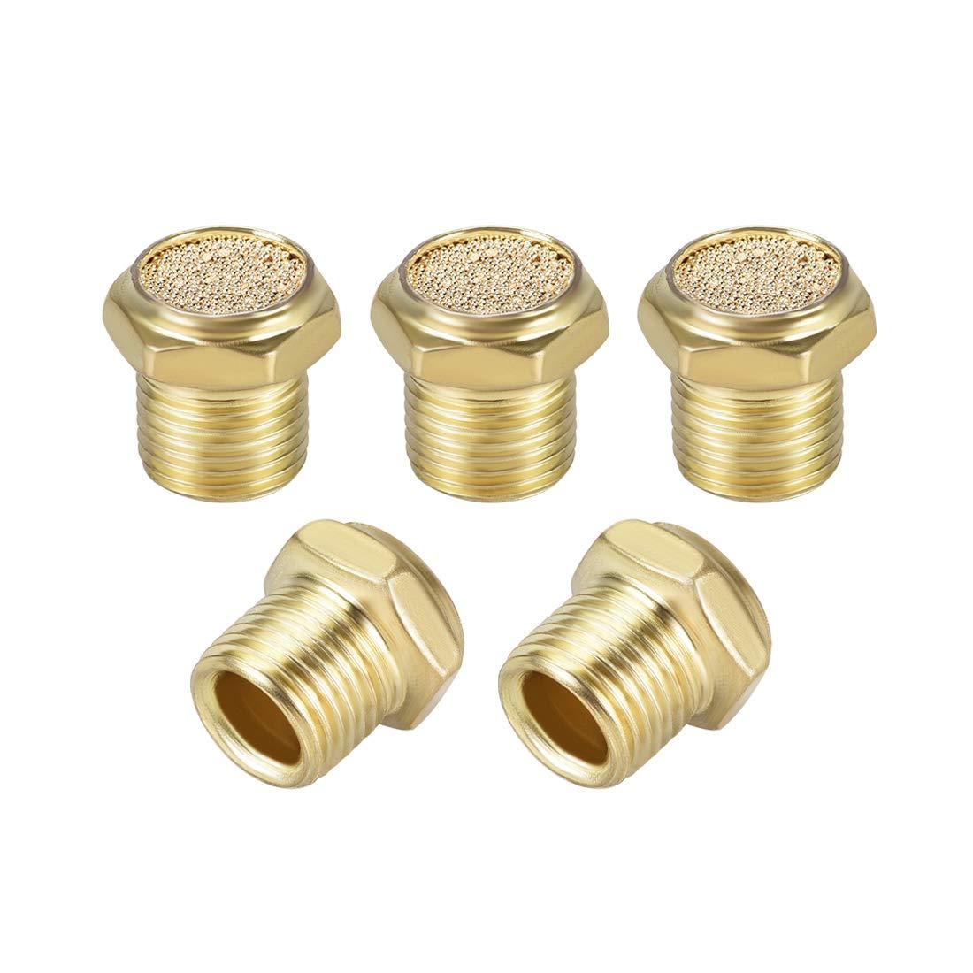 uxcell Sintered Bronze Exhaust Muffler G1 Flat Brass Popular brand in the world 8 - Pn Philadelphia Mall Body