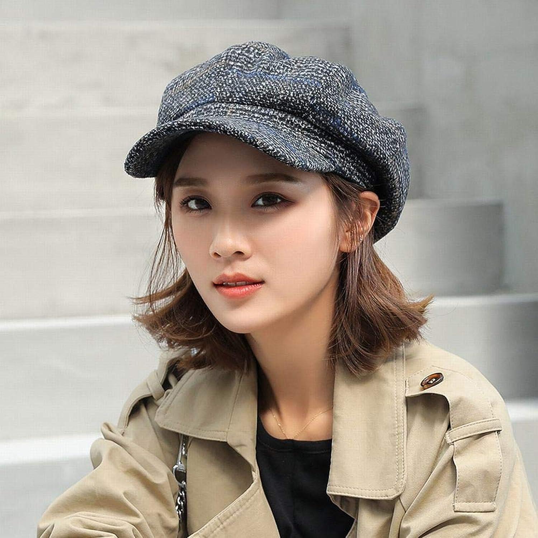 Zhouzhou666 Achteckige Kappe Weiblicher Frühling Und Sommermaler Newspaperboy Hutwollmützehut