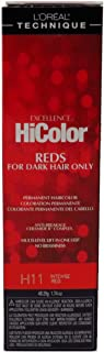 Loreal Excellence Hicolor H11 Tube Intense Red 1.74 Ounce (51ml) (2 Pack)