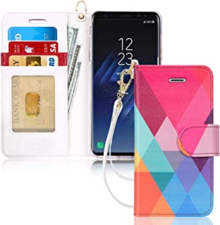 FYY Luxury PU Leather Wallet Case for Samsung Galaxy S8, [Kickstand Feature] Flip Folio Case Cover with [Card Slots] and [...