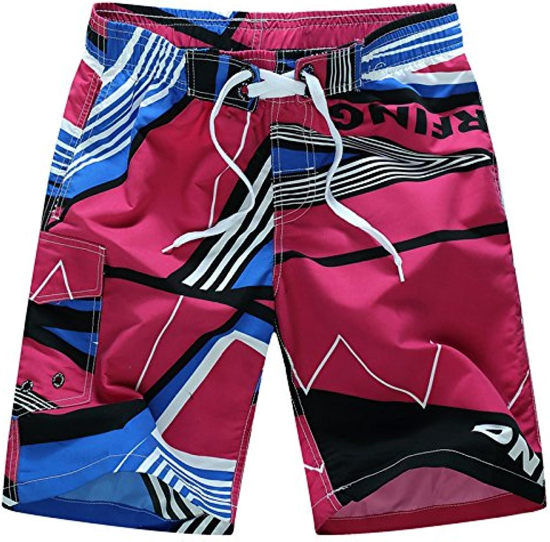 PJYB Men's summer print Beach pants, men loose slacks, men surfing and quickdrying yards, shorts