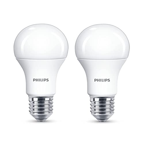 Philips Bombilla LED E27, Pack 2 Unidades, luz Blanca cálida, 13 W
