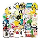 HONGC Animal de Dibujos Animados Lindo Abeja Pato Estudiante niños monopatín portátil Doodle Trolley Caso Impermeable PVC Pegatinas 50 unids/Set