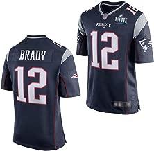 HS-HWH316 American Football New England Patriots # 12 Tom Brady Fu/ßball-Jersey-Comfort-Material K/änguru-Tasche Fans Kost/üm L/ässige Kleidung Geschenke