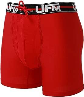 UFM 6 inch Polyester Spandex Boxer Briefs Patented Pouch Underwear for Men MAX