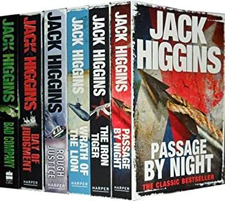 Jack Higgins Collection: Passage by Night, the Iron Tiger, Wrath of the Lion, Rough Justice, Day of Judgment, Bad Company