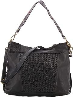 Civico 93 black woven bag