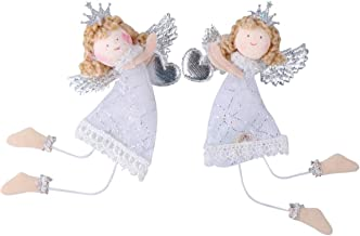 Amosfun 2Pcs Christmas Tree Ornament Hanging Angel Pendants Christmas Hanging Decoration Doll Holiday Indoor Party Favor S...