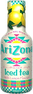 AriZona - Thé Noir au Citron - Boisson 100% Plaisir - Emballage Design - 1 Bouteille PET 500 ml