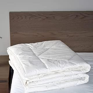 Woolino Luxurious Australian Washable Wool Comforter, Mid-Weight Wool Fill 85oz King Wool Duvet Quilt Blanket, Size 90